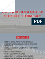 use of waste material in concrete