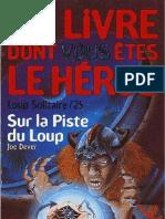 Loup Solitaire 25 - Sur La Piste Du Loup