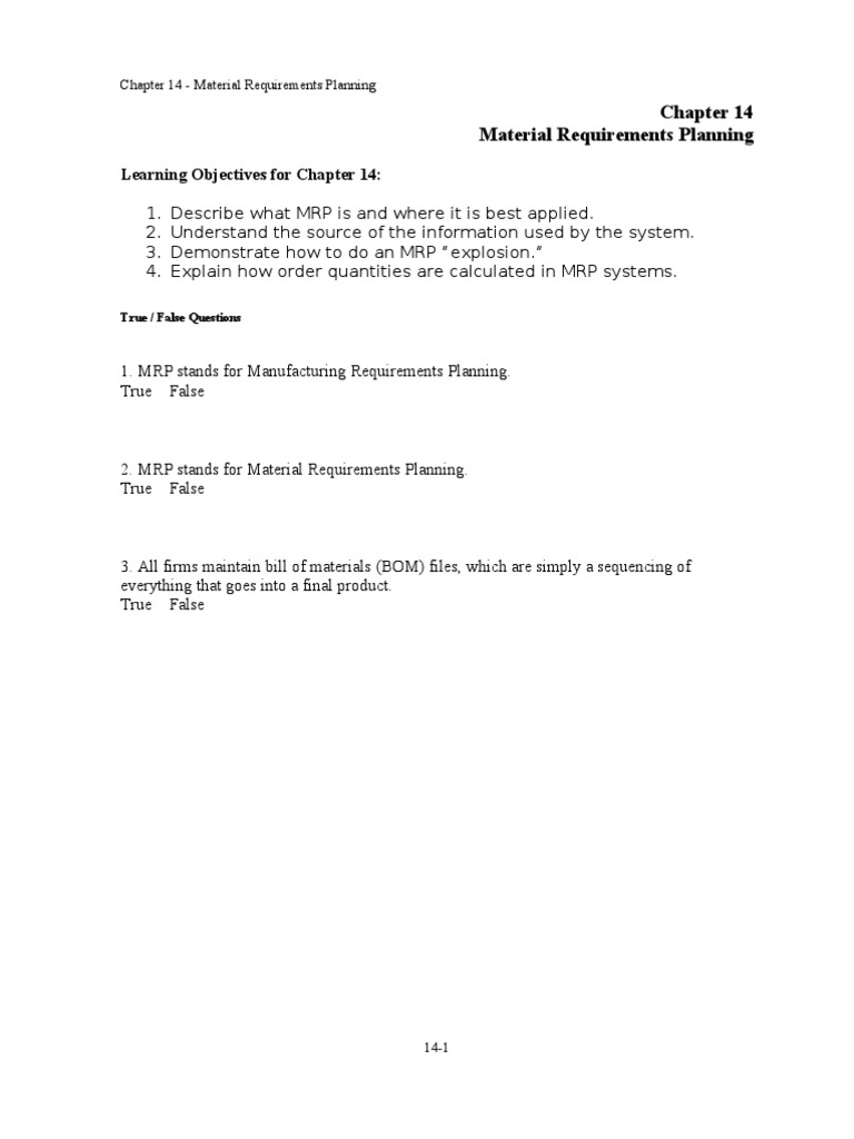 Chap 014 Enterprise Resource Planning Inventory