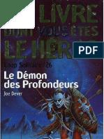Loup Solitaire 26 - Le Demon Des Profondeurs