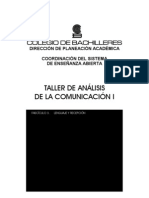 Colegio de Bachilleres - Taller de Analisis de La Comunicacion