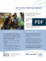 Product Sheet for Bedside Pediatric Early Warning System
