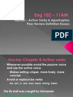 11amEng 102 ActiveVerbs Apostrophes