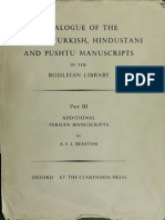 Catalog of Persian Turkish and Pushtu Manuscripts in Bodleian Lib - Part 3
