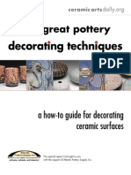 five great pottery decorating technuques
