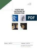 Apix Cout Des Facteurs de Production