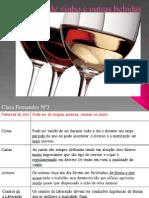 Serviço de vinho e outras bebidas