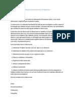 Técnicas e instrumentos para un diagnostico