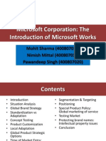 Microsoft Corporation the Introduction of Microsoft Works