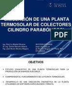 Simulacion de Una Planta Termosolar de Colectores Cilindrico