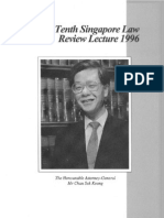 10th Singapore Law Review Lecture