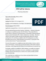 IPSF Call for Interns