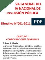 DIRECTIVA GENERAL DEL SISTEMA NACIONAL DE INVERSIÓN PÚBLICA