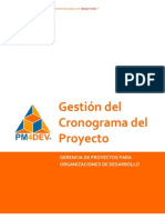 PM4DEV Gestion Del Cronograma