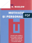 A H Maslow-Motivatie Si Personalitate