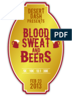 Blood, Sweat & Beers 2013 Results