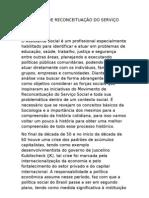 MOVIMENTO DE RECONCEITUAÇÃO DO SERVIÇO SOCIAL  tatatat