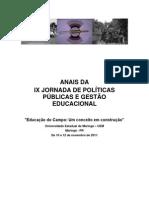 ZANELLA, Maria Nilvane. 2011. Anais Da IX Jornada