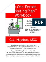 One Person Mktg Plan Wkbk