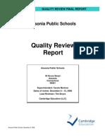 Ansonia Schools Report