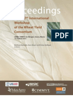 International workshop of the wheat yield consortium, 2. Proceedings; CENEB, CIMMYT, Cd. Obregon Sonora, Mexico; 12-15 March 2012