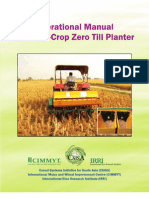 Operational manual for multi-crop; zero till planter