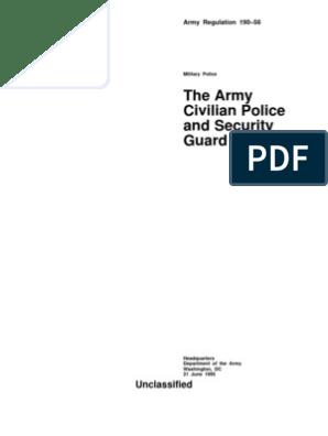 ar 190-56 army civilian police & security program | Security