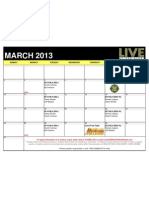 2013 March Live at the Bike Show & Commentator Schedule