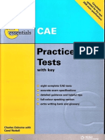CAE Practice Tests with Key by Charles Osborne