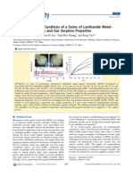 Microwave-Assisted Synthesis of a Series of Lanthanide Metal−