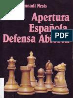 Apertura Española, Defensa Abierta