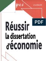 Réussir la dissertation d'économie Par Jean-Luc Dagut