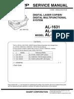 manual de servicio sharp al 2030 2040cs 2050cs image scanner rh scribd com Sharp Al 1631 Manual PDF Sharp Al 1631 Cartridge