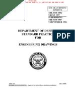 DEPARTMENT OF DEFENSE STANDARD PRACTICE FOR ENGINEERING DRAWINGS