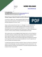 Winrock International CEO Announcement
