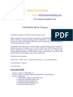 Sap Hana Training