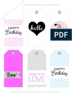 Everyday Gift Tags by anna and blue paperie