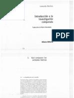 Morlino, L. - Introduccion a La Investigacion Comparada. Capitulo 3 , 5 y 6.