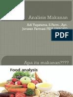 Analisis Makanan Dan Kosmetik