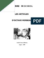 """Pierre Michel, """"Les Articles d'Octave  Mirbeau"""""""
