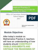 FINAL REVISED Math Module 1 MP3 1 14 2013.ppt