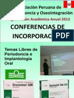 Conferencias de Incorporación