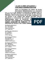 A LOS CLUBES AFILIADOS - COMUNICADO ATENCIÓN AL PUBLICO2