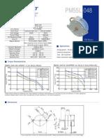 Datasheet Motor PM55L 048 HPG9