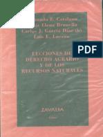 Lecciones de Derecho Agrario y de Los Recursos Naturales - Edmundo Catalano