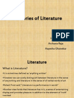 Theories of literature