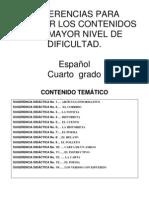SUGERENCIAS_DIDACTICAS_ESPAÑOL_4oPrimaria