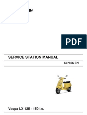 Vespa Lx 125 150 I E En Motor Oil Transmission Mechanics