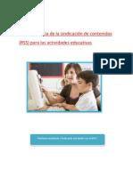 La Importancia de a Sindicacion de Contenidos Rss Para Las Actividades Educativas