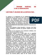 Lecturas Primer Parcial - Gildardo Rivera